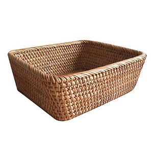 Rattan Basket Home Supplies Woven Baskets Square Wicker Food Tray Storage Box