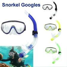 Adult Tempered Glass Snorkeling Valve w/Breathing Tube Package Set