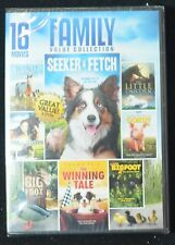 16 Movie Family Value Collection (DVD) Seek & Fetch, Wind Dancer, Big Foot + NEW