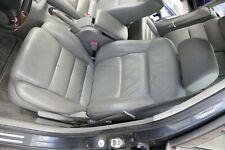 VW Passat 3B 3BG Kombi Sitz vorne links Fahrersitz Leder Ledersitz grau flanellg