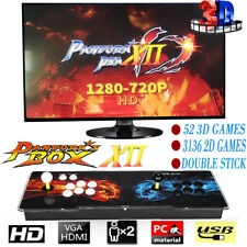 New Pandora's Box 12s 3188 In 1 Video Games Arcade Console Support 2 Players US