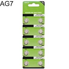 10X Lot AG7 LR927 395 SR927 195 Alkaline Button Coin Cells Watch Battery Sturdy