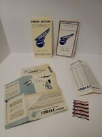 Cubana de Aviacion 1951-52 Airline Itineraries Tarrif pamplets Cuba Havana