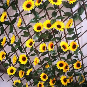 Artificial Sunflower Garland Silk Flowers Wedding Arch Fake Faux Table Decor