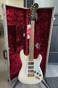 Fender FSR Mahogany Blacktop Stratocaster Guitar HHH (NEW) Used Custom Shop Case