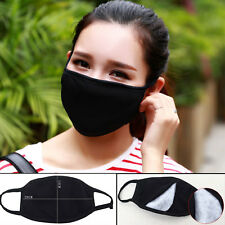 Anti-Dust Unisex Face Mask Respirator Winter Warm Mouth Mask Double-deck Black