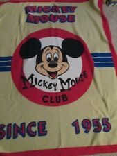 """Mickey Mouse Club Since 1955 Plush Blanket  60"""" x 50"""" New"""