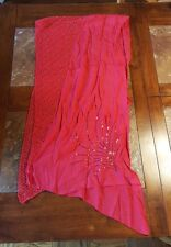 SCARF - Brilliant Red w/sequins - EXCEPTIONAL PRICE - NWT - EXCEPTIONAL VALUE !!