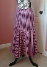 BETSEY JOHNSON  New York Pink, Black and White Striped Trumpet Skirt 6