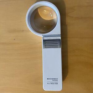 ESCHENBACH MAGNIFIER Glass LED LIGHT 4x/16D/100 HAND HELD