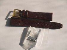 BROWN 18mm OPEN ENDED DENVER CALF LEATHER WATCH STRAP 2 BUCKLES