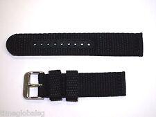 Genuine 20mm Seiko Black Nylon Strap Band Watch Model SNN079 -Strap Model 4KC8JZ