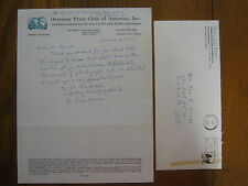 BEN LUCIEN BURMAN (The Catfish Bend Series) Signed  8 x 11  1977 Personal Letter