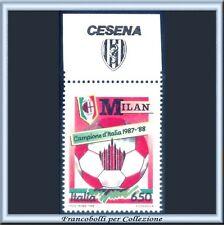 1988 Italia Scudetto Calcio MILAN Campione appen Cesena
