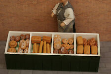 More details for dolls house miniature bakers stall & bread