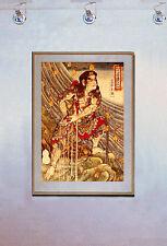 Tattoo- After Swimming 15x22 Japanese Print Kuniyoshi Asian Art Japan Samurai