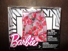 BARBIE DOLL ROSE PRINT SKIRT DRESS FASHION CLOTHING RED ROSE / PINK SKIRT - NEW