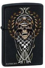 Zippo 7289 race skull black matte Lighter