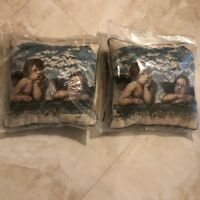 """Adorable Angels Pillows Set of Two 10"""" by 10""""  Inch Brand New In Plastic Angelic"""