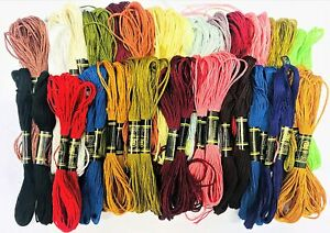 New 50 Colors Egyptian Cross Stitch Cotton Sewing Skeins Embroidery Thread Floss