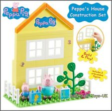 PEPPA PIG Peppas House Construction Set Buildable Block Playset DADDY GEORGE New