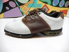 Nike Sp-8 Tour Saddle 314898-121 Size 11.5 Golf Shoes Brown and White Sports