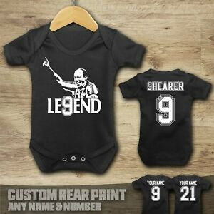 Newcastle - Alan Shearer - Football -  Baby Vest Suit Grow