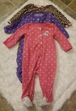 Carter's Sleeper pajamas 3 PC set size 9MONTHS Baby Girl