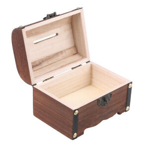 Wooden Vintage Dovetail Box With Lock Lid Cigar Jewelry Antique Ammo