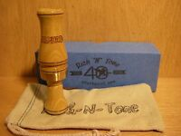 40th RNT Rich-N-Tone Alpha 2 Bois D 'Arc Hedge Wood Double Reed Duck Call