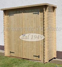 Box Casetta LEGNO ABETE NATURALE cm 205x120x25 Arredo Giardino Esterno Armadio