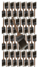 """48PK 2.5""""Angle House Wall,Trim Paint Brush Set Home Exterior or Interior Brushes"""
