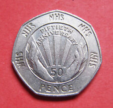 A nice 1998 '50th anniversary of the NHS' 50p coin