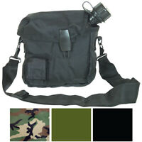 2 Quart Bladder Nylon Canteen Cover & Carry Strap Military Army Camo Camping