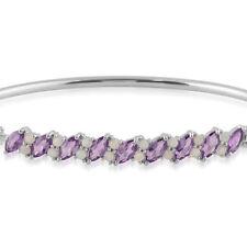 Not Enhanced Amethyst Sterling Silver Fine Bracelets