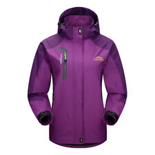 Women Hiking Hooded Jacket Outdoor Sport Ski Snowboard XL Purple