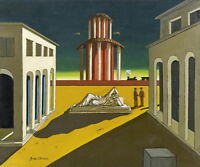 Giorgio de Chirico Plazza d'Italia Giclee Canvas Print Paintings Poster