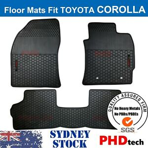 Prime Quality All Weather Rubber Floor Mats to Fit Toyota Corolla Hatc 2012-2018