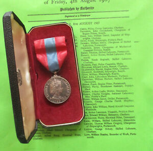 Imperial Service Medal (QEII) William Henry Dowell, Chargeman, MOD (Royal Navy)