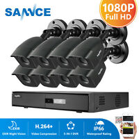 SANNCE HD 8CH 5in1 DVR 1080P Outdoor Home Surveillance Security Camera System IR