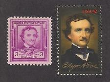 Edgar Allan Poe - U.S. Postage Stamps - Issued In 1949 & 2009 - Mint Condition