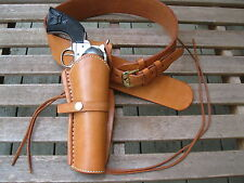 "Gun Belt Combo - 6""  Smooth Holster - Natural - Leather - Sizes 34"" to 52"""