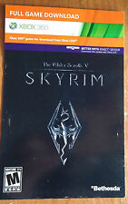 Elder Scrolls V: Skyrim DOWNLOAD TOKEN (Microsoft Xbox 360) -