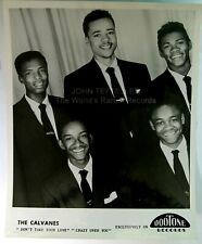 ORIGINAL 1950's 8x10 Publicity Photo The Calvanes Soul