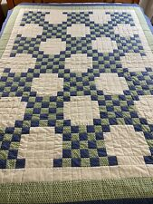 Double IRISH CHAIN Quilt Handmade HAND QUILTED Signed & Dated NEVER USED 64 X 82