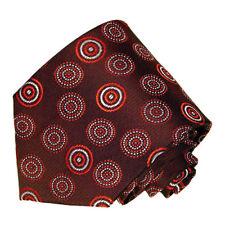 Men's light burgundy polka dot designed woven tie