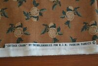 By 1/2 Yd, Tan & Green on Brown Quilting, Thimbleberries/Cottage Charm, N910