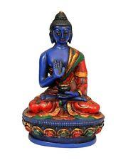 Tibetan Healing Medicine Buddha Statue Hand painted Nepal