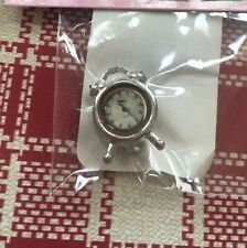 1/12th Doll House Miniature Silver Alarm Clock New