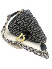 Christian Dior Saddle Bag Gray & Black
